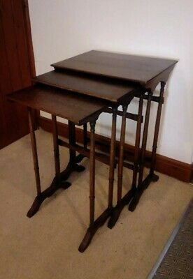 Lovely Georgian / Edwardian Nest Of Tables Set Of Three in good condition .