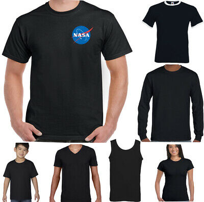 Nasa Logo Rétro T-Shirt Espace Sheldon Cooper Big Bang Theory Chest Haut Imprimé