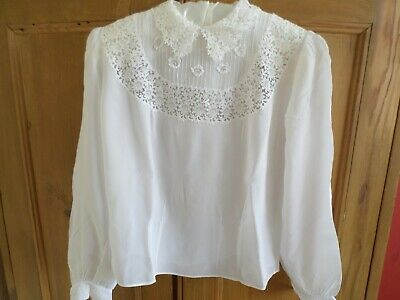 Antique/vintage white blouse with lace detail