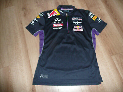 OFFICIAL Red Bull F1 Mens Pepe Jeans London Polo Neck T-Shirt  Medium