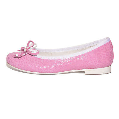 Petasil Girls Daisy 5559 Pink Leather Ballet Pump Shoes UK 2 F EU 34 US 2.5