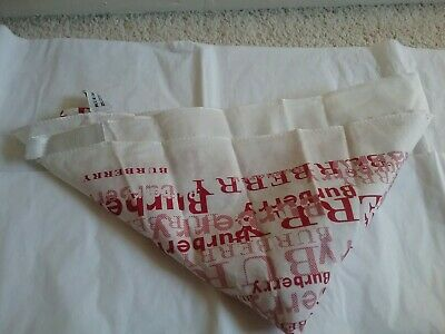 Bnwot Burberry Girls White And Red Scarf