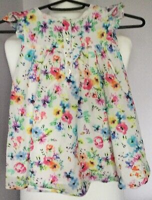 Marks & Spencer girls top/dress 2 piece set, age 3-4 years - one part only