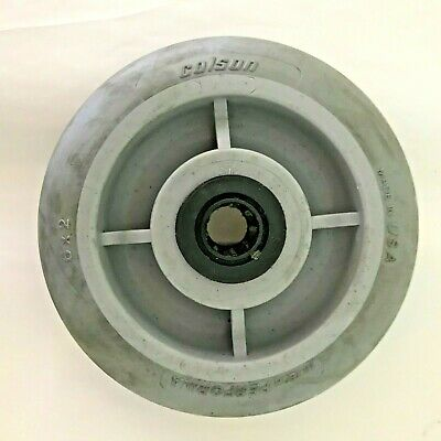 "6"" x 2"" Colson Round Tread Performa Wheel w/ 3/4"" Roller Bearing (Gently Used)"