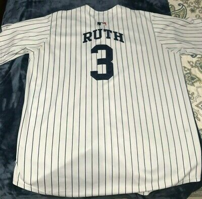 size 40 32e27 3b124 BABE RUTH NEW York Yankees 1929 Mitchell and Ness Jersey L ...
