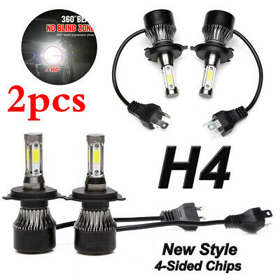 2019 300W 36000LM New 4-Side H4 LED Headlight Car Bulbs High And Low Beam Bright