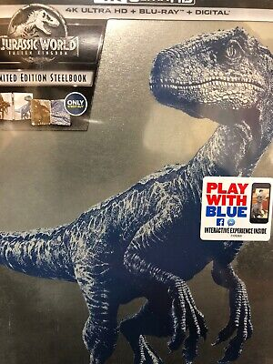 Jurassic World Fallen Kingdom SteelBook 4K Ultra HD Blu-ray & Digital NEW