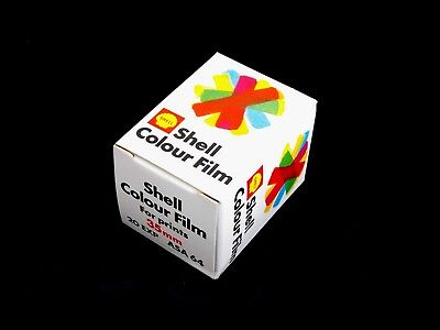 VINTAGE SHELL SH35 35mm Colour Film 20 exp ASA 64 - with original packaging etc