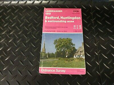 Bedford Huntingdon Landranger 153 OS Map 1:50000 Ordnance Survey