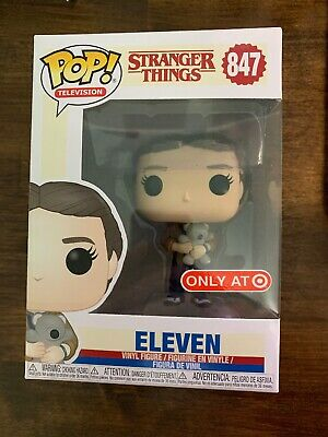 Funko POP! Television Stranger Things #847 ELEVEN with BEAR Target Exclusive NM