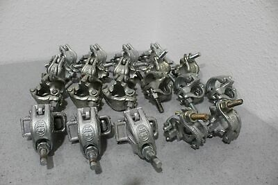Lot of 20 Various Swivel & Fixed Truss Scaffold Rigging Clamps FREE SHIPPING