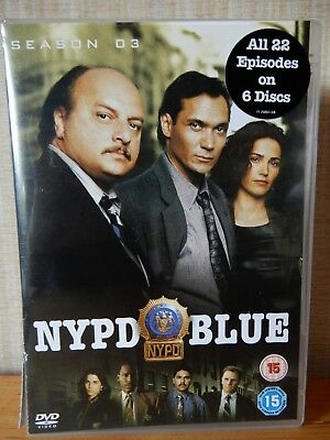 NYPD Blue - Series 3 - Complete (DVD, 2006, Boxed Set)