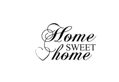 Home Sweet Home Wall Quotes Wall Stickers Wall Art Living Room UK 132