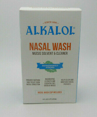 Alkalol  Soothing Nasal Wash Mucus Solvent and Cleaner Kit 16oz 857670002007WS