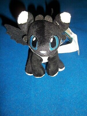 IN HAND Build a Bear How to Train Your Dragon Nightlight Blue Eyes Black White