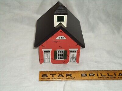 Windfield Designs Wooden Bank  School/meeting house dated 1984 Glens Falls, NY