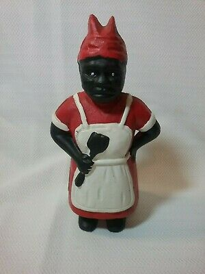 """""""Aunt Jemima"""" or """"Mammy with Spoon"""" Antique Cast Iron Still Bank"""