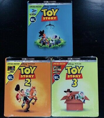 Disney Toy Story Trilogy 4K Bestbuy Steelbook Ultra HD + Blu-Ray NO DIGITAL CODE