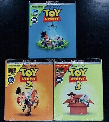 Disney Toy Story Trilogy Bestbuy Steelbook Blu-Ray + Digital Code NO 4K UHD DISC