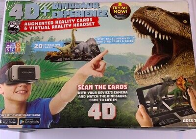 4D+ Utopia 360° Dinosaur Experience Augmented Reality Virtual Reality Headset