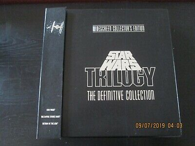 Star Wars Trilogy Definitive Collection Laser Discs Box Set Widescreen