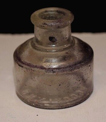 Antique Higgins Empty Ink Well Bottle Brooklyn NY