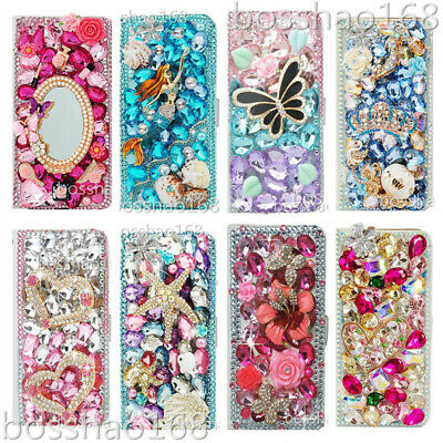 For LG G7 ThinQ Luxury Glitter Magnetic Flip Leather wallet Case cover & straps