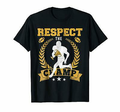 Fantasy Football League Champion Respect Champ Trophy T-shirts Tee US trend 2019