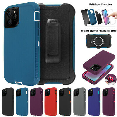 For iPhone 11 Pro Max Shockproof Hybrid Heavy Duty Case Full Cover W/ Belt Clip