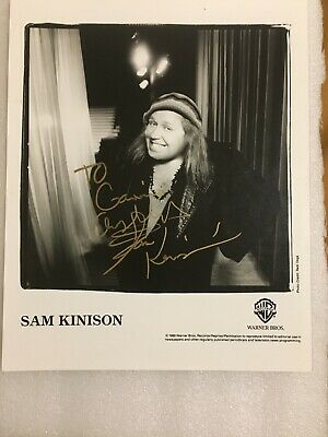 Sam Kinison Signed Photo (To His Guitar Tech , Gavin Menzies) Legendary Comic