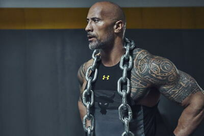 G0304 Dwayne Johnson Training Workout Wrestling Star Wall Print POSTER US