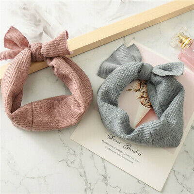 Baby  Soft Cotton Knit Baby Heaband Rabbit Ear Elastic Hearbands Baby Headbands