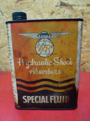ancien bidon huile AP automotive product hydraulic shock absorbers