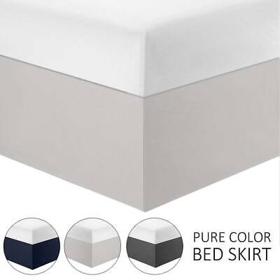 STRETCH VALANCE Bed Skirt Wrap Soft Microfiber Single Single Double Queen King