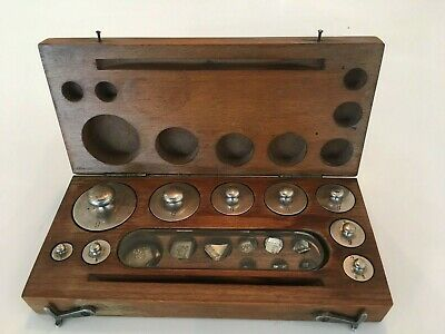 Antique August Sauter Scientific & Apothocary Weights made in Germany.