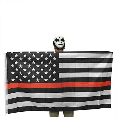 Thin Red Line American Flag Firefighters 3x5 Ft Banner Flag Decor Hot Latest New