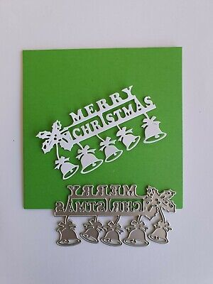 Merry Christmas Bells Metal Cutting Die Suitable for Sizzix Cuttlebug machines