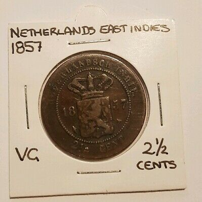 1857 Netherlands East Indies 2 1/2 Cents VG