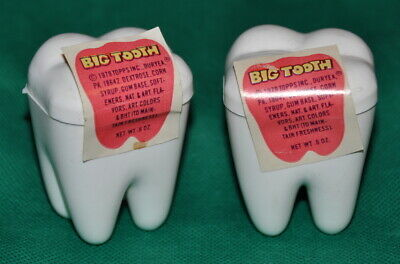 """Vintage 1979 """"Big Tooth"""" Candy lolly/chewing gum."""
