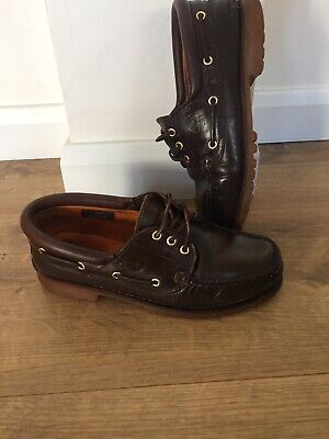 Mens Timberland Shoes. Brown Classic Lug Boat Deck Shoes Size 9. Used