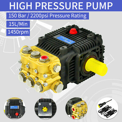 150 Bar 15 Lpm Pressure Washer Jet Wash ,High Pressure Pump ,Solid Shaft