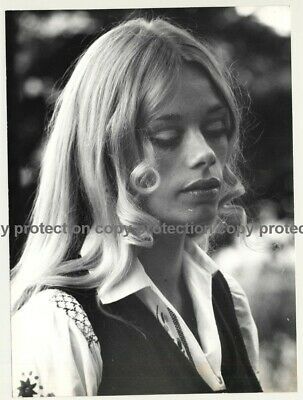 Portrait Of Pretty Blonde Hippie Woman (Vintage Photo Master 1970s Fashion)