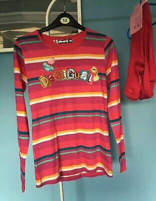 NEW Designer Desigual Top T Shirt Age 13-14 Long Sleeved Cotton (no Tags)
