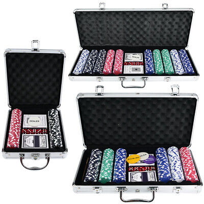 Chips Set Texas Cards Poker Dice Decks Set Accessories For Casino Game 500pcs UK