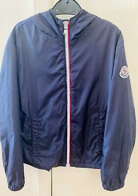 Authentic Moncler Boys Navy Blue Urville Hooded Jacket Age 7-8 Years 130cms VGC