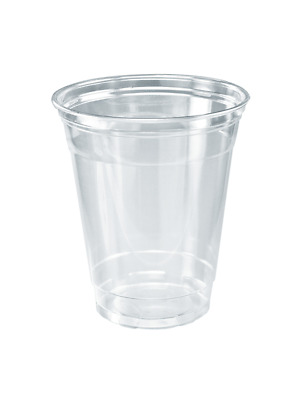 Disposable Plastic Cups Clear Reusable Juice Water Cup Dome Lid 14 to 24oz Bulk