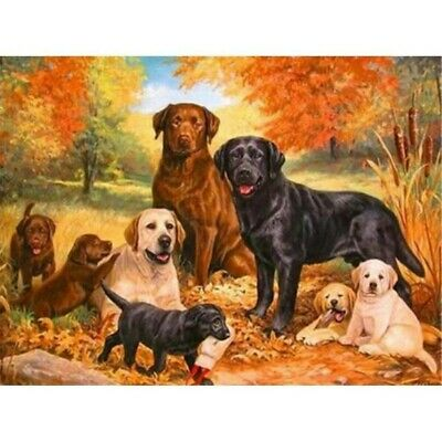 5D Diamond Painting Full Drill Crafts Kits Embroidery Dog Family Decor Gifts UK