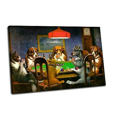 T1620 Silk Poster dogs poker QUALITY CANVAS ART PRINT Dogs Playing Poker Art