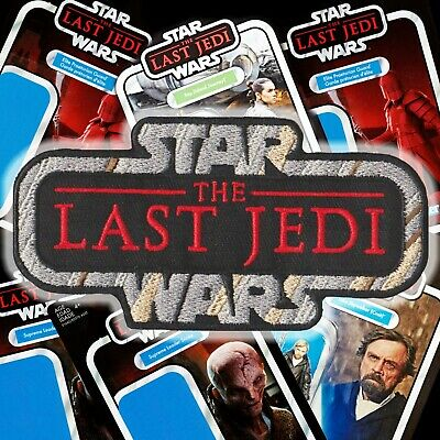 """STAR WARS""""The Last Jedi"""" Kenner Vintage Collection style toy logo patch +Global"""