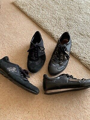 Two Pairs Of Mens Black Guess Casual Shoes Size 11 (44) Pre Owned